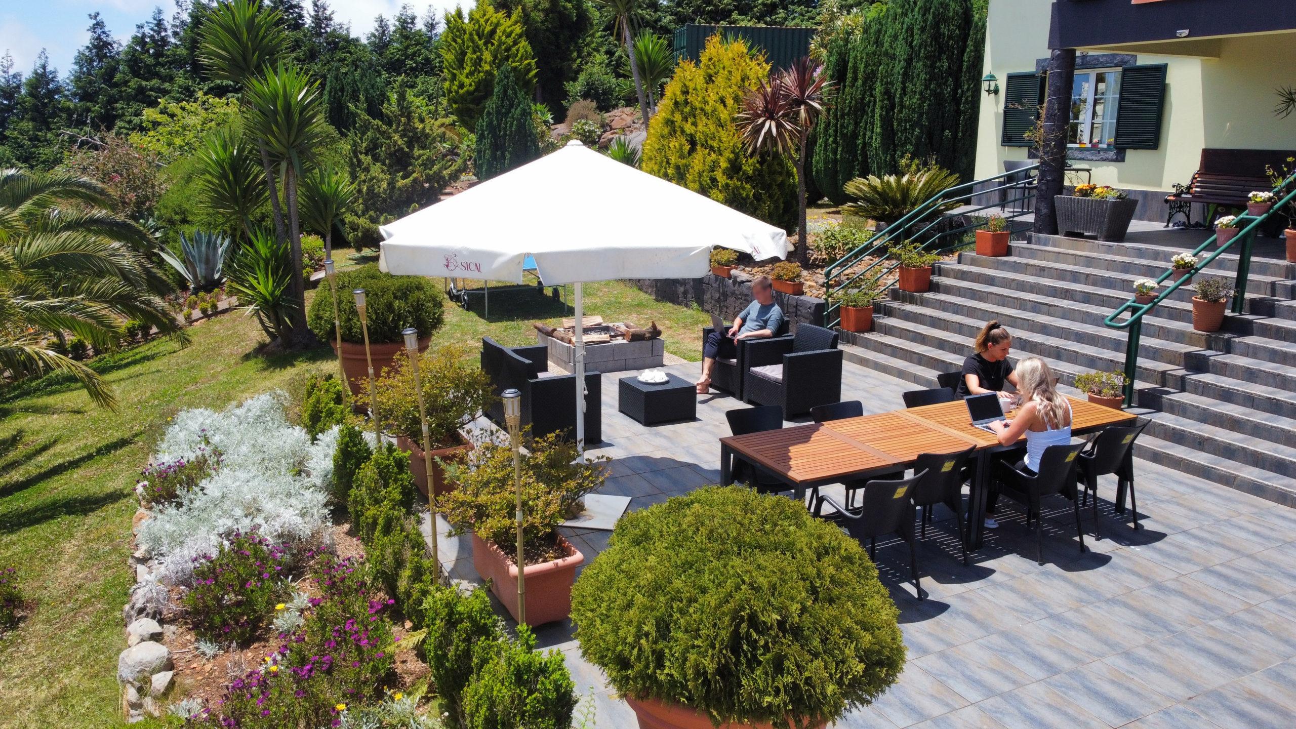 Schönes Workation-Homeoffice auf Madeira